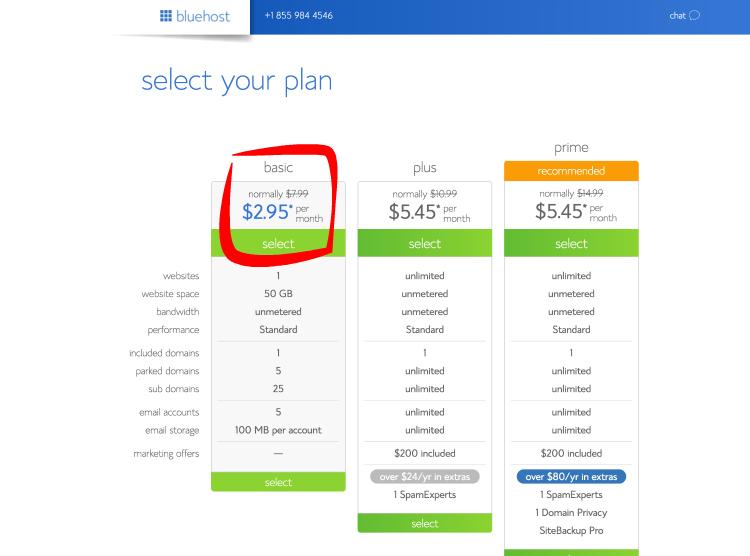 bluehost affiliate website screenshot 2