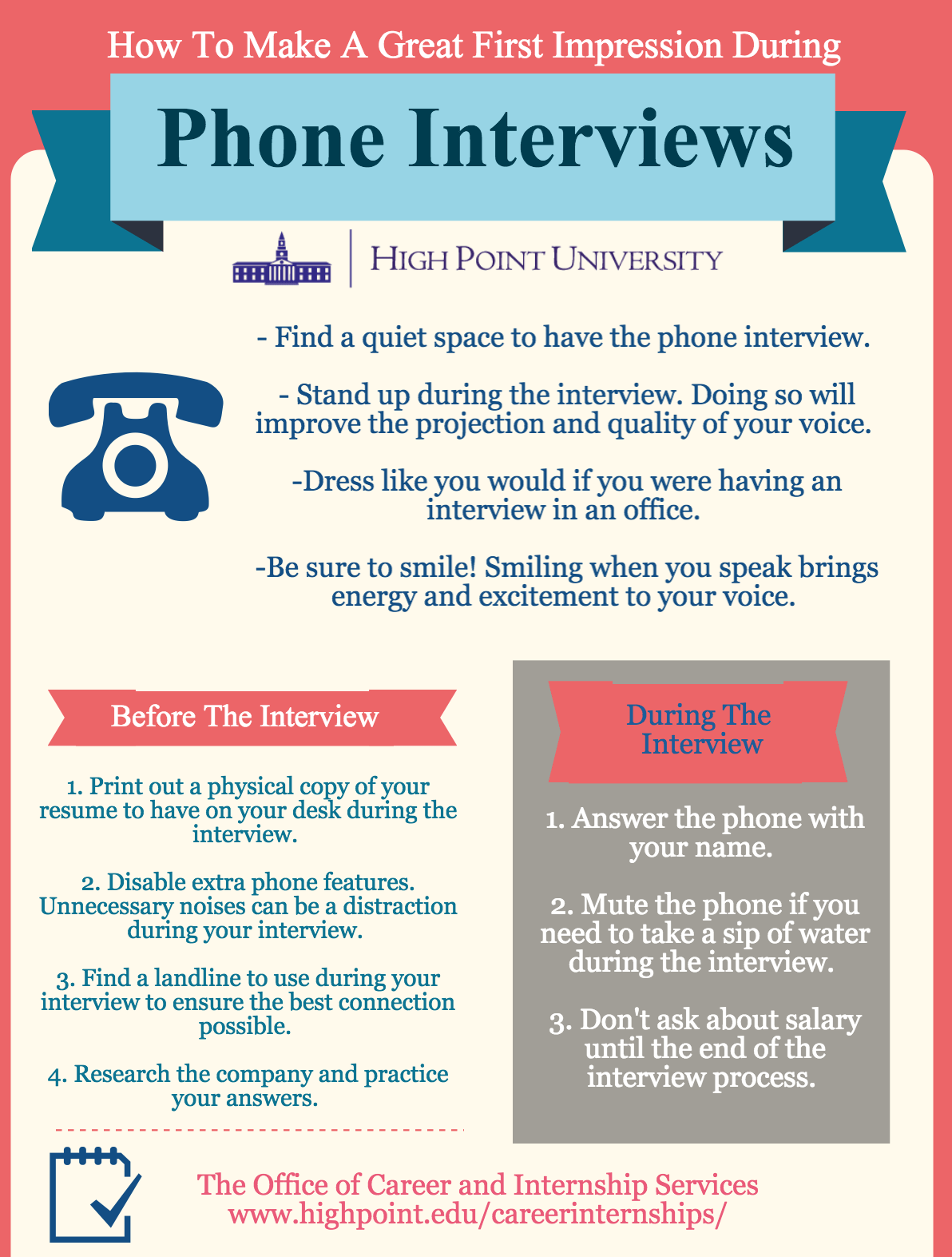 Infographic Great Impressions During Phone Interviews