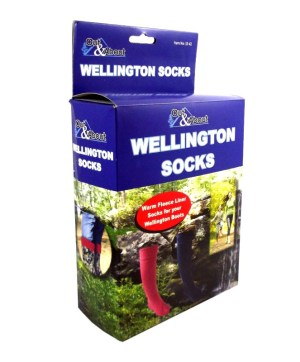 Socks Wellington Socks Pink Fleece