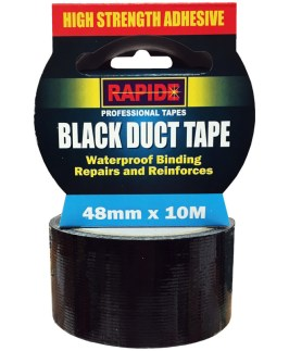 Duct Tape Black 10 metres x 48mm