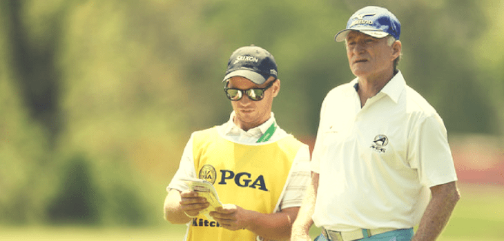 Caddying at Senior PGA Championship