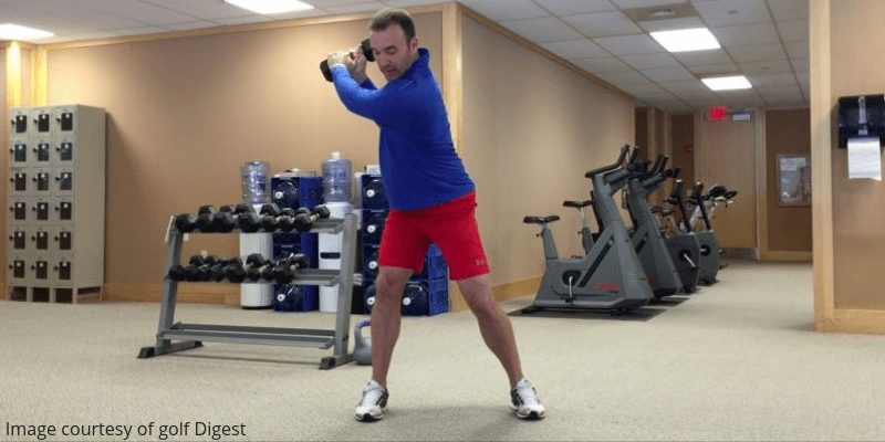 Indoor golf workout