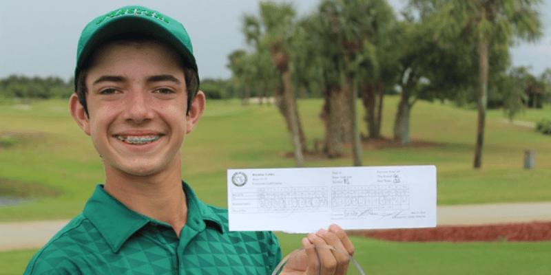 Junior Golf Scoreboard individual scoring