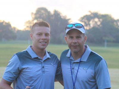High School Golf Coach with players