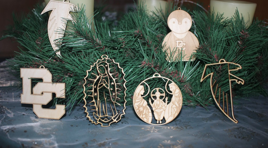 Ornaments sold as a fund raiser.