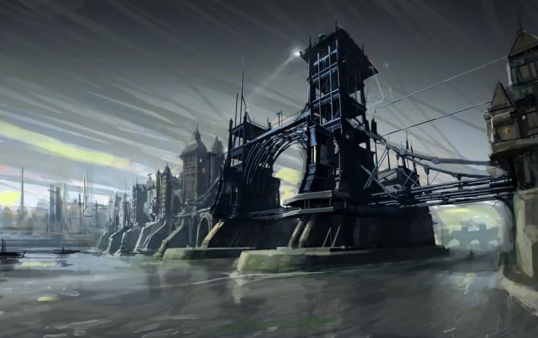 Dunwall_bridge_concept_art_by_Viktor_Antonov