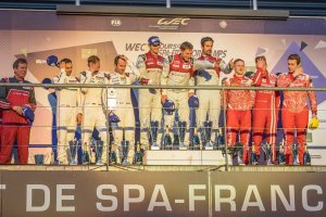 The LMP 1 Podium at the WEC 6 Hours of Spa - Circuit de Spa-Francorchamps - Spa - Belgium