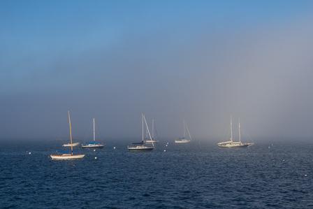Fog on Casco Bay