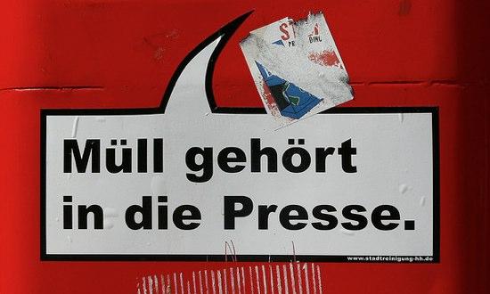 Müll gehört in die Presse