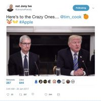 Tim Cook and Donald Trump making Apple great again