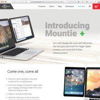 Mountie Halterung für iPad am Macbook