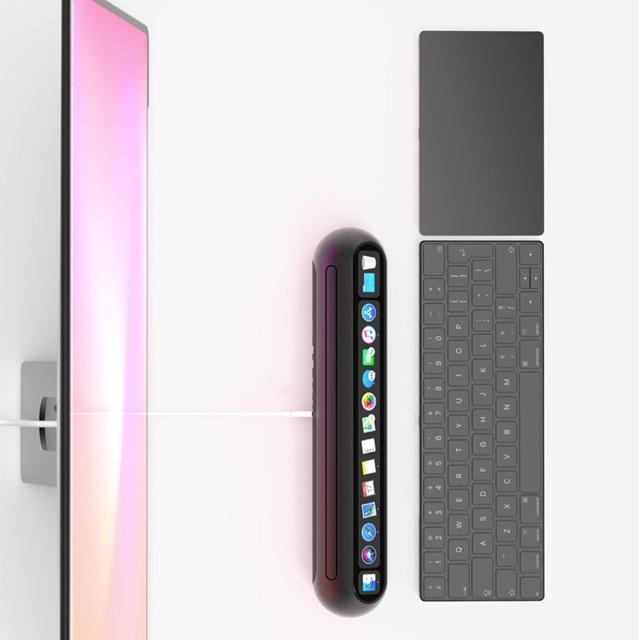 Mac Mini mit Touch Bar und Face ID als Taptop Computer