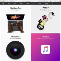 apple.com im April 2018
