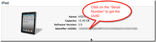How To Get the UDID/UUID of your iOS Device - Even In A