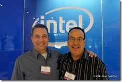 Jeff Sass (Dadomatic.com) & Michael Sheehan (HighTechDad.com) at Intel Upgrade Your Life 2011