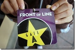 Front of Line Pass