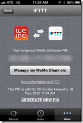 WeMo & iFTTT integration