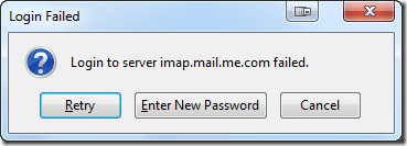"""Login to server imap.mail.me.com failed"" Error"