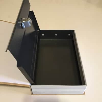 HTD's Cell Phone Book Safe - open safe in the book