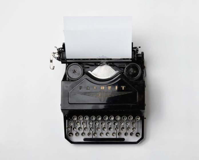 Old Fashioned Typewriter - brand journalist