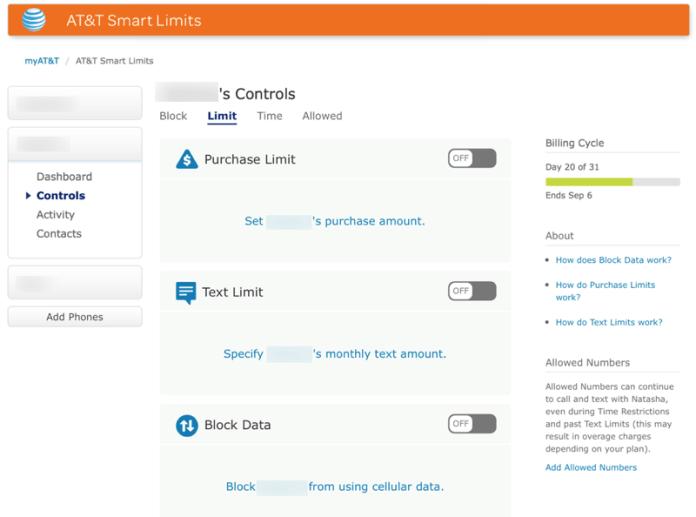 HTD AT&T Smart Limits - Limits