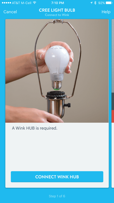 HTD Wink & Cree Connected LED Light Bulb - iOS install Cree light