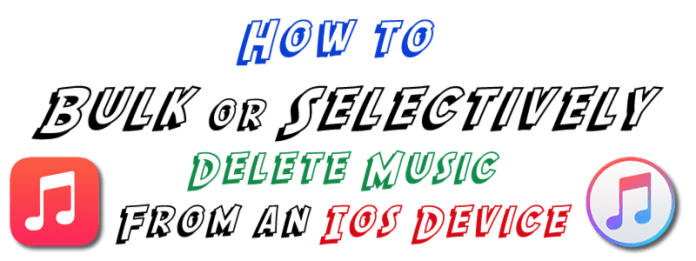 HTD Bulk Delete Music from iOS - Title graphic