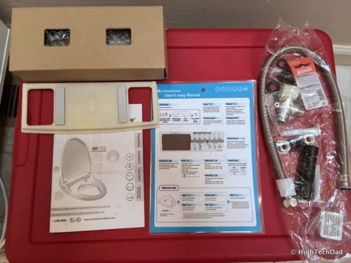 Clean Sense DIB-1500R Bidet Review - in the box