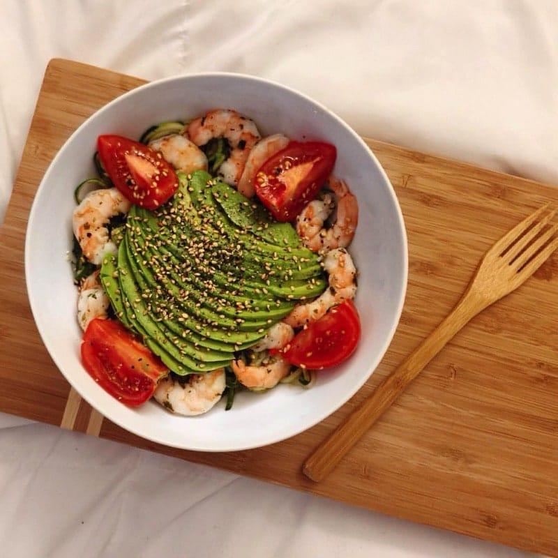 HTD Kid Cooking Tips - shrimp, avocado & tomato meal by Natasha Sheehan