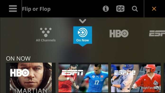 HighTechDad Sling TV - horizontal view on iPhone