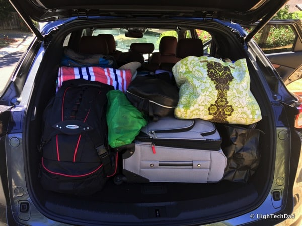 HighTechDad 2016 Mazda CX-9 Review - cargo loaded