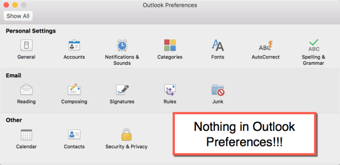 How to set the default email client in MacOS Sierra & El Capitan - Outlook preferences
