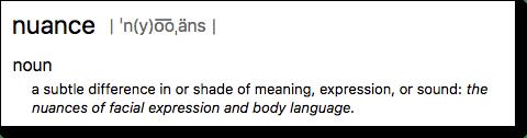 Nuance definition