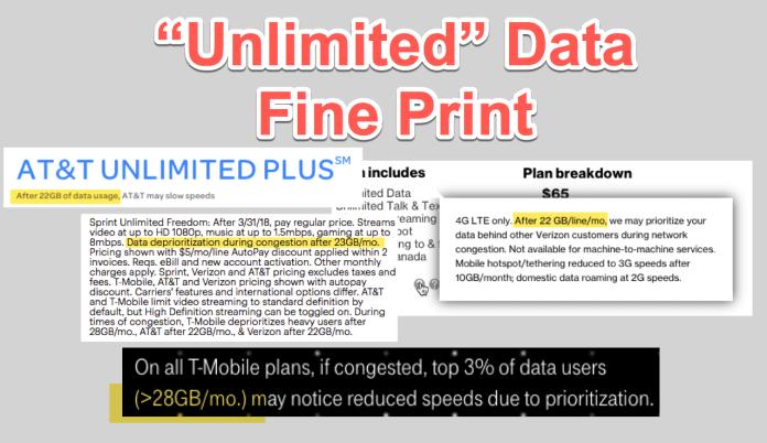 """Unlimited"" data - fine print"