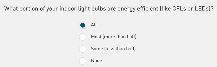 PGE - Survey (Light Bulbs)
