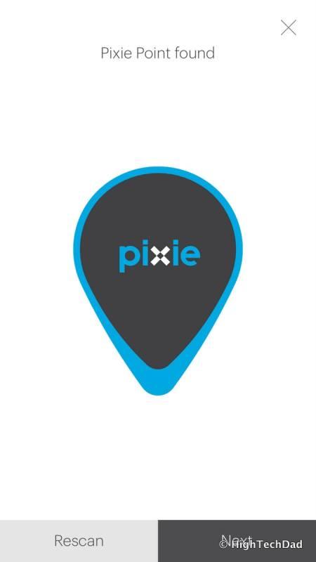 Pixie Bluetooth location system - Pixie Point found
