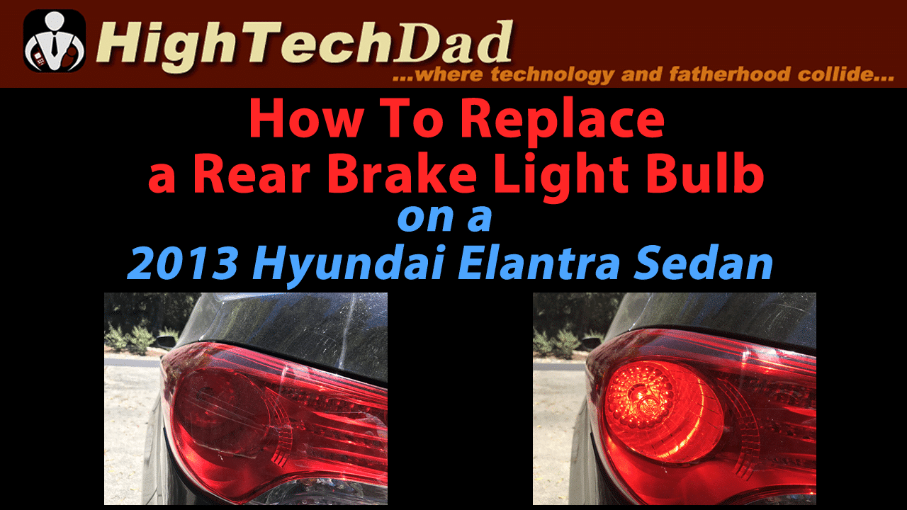 How To Replace the Rear Light Bulb of a 2013 Hyundai Elantra [Video