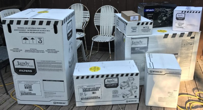 HTD pool upgrade - boxed equipment