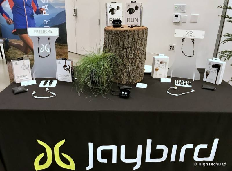 Logitech 2017 Holiday Tech Media Preview - Jaybird table