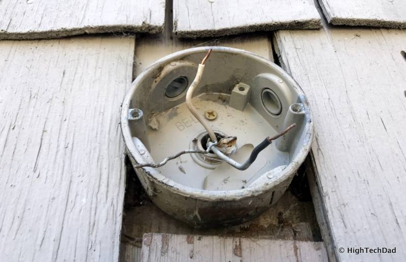 Ring Floodlight Cam - old junction box