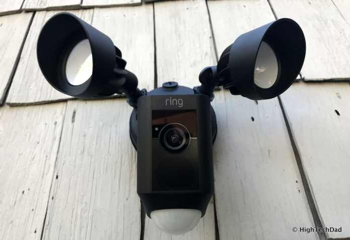 Ring Floodlight Cam - mounted