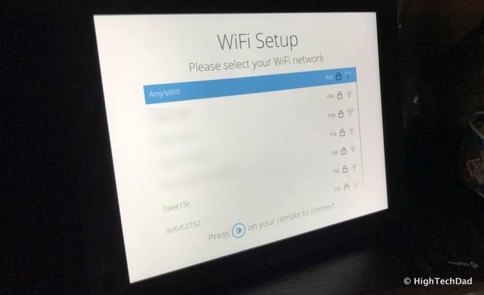 Nixplay Seed Digital Frame Review - choose WiFi