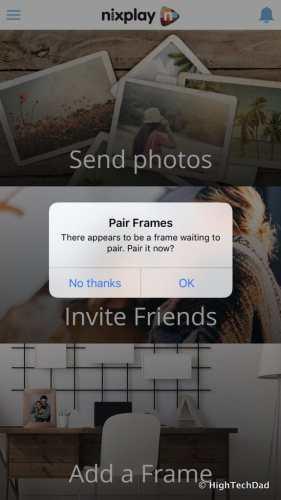 Nixplay Seed Digital Frame Review - iOS pairing