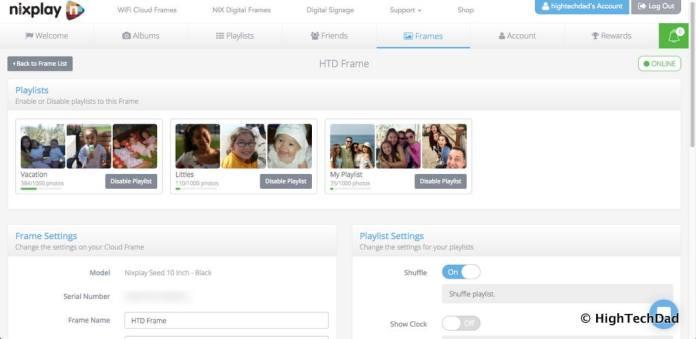 Nixplay Seed Digital Frame Review - frame details