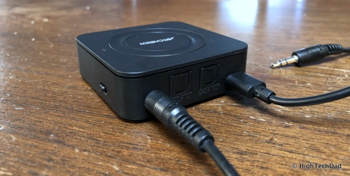 ARCHEER Bluetooth Transmitter & Receiver review - Aux connection