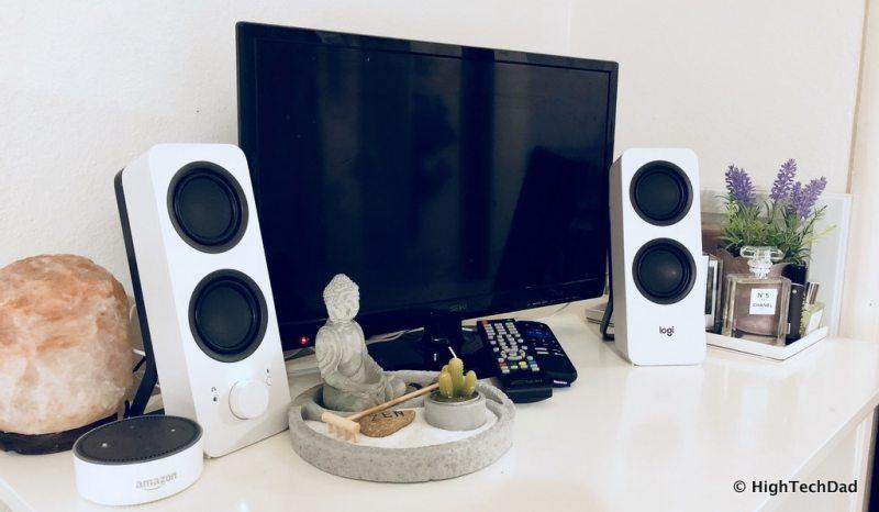 HTD Logitech Speaker review - daughter's TV