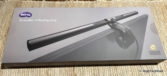 BenQ ScreenBar Review - boxed up