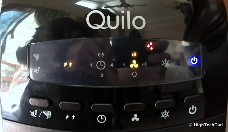 Quilo Tower Fan Review - controls and alerts