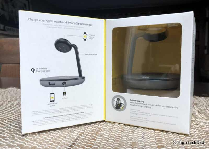 HTD Kanex GoPower Watch Stand with Wireless Charging Base Review - box open