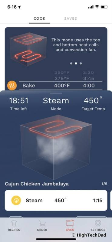 HTD Tovala Steam Oven & Meals Review - monitor your meal on smartphone app